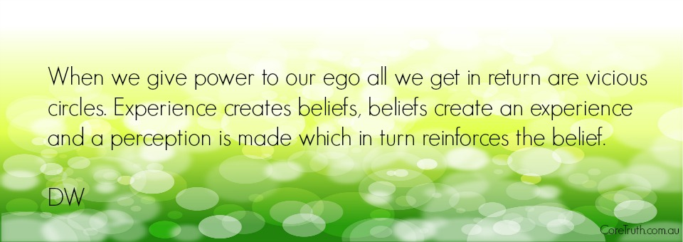 When we give power to our ego…